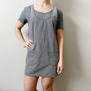 Vintage 90s Grass Raggs Check Overall Dress